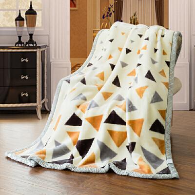 伊迪梦家纺 双层盖毯加大加厚拉舍尔毛毯 柔软保暖秋冬季毯子 单人双人绒毯BD803 满减优惠&可叠加领券优惠