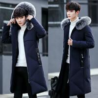 20180315074537757冬季新款男士羽绒服韩版加厚中长款潮流大毛领青年修身男装