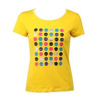 沃特运动T恤 女 夏季女式圆领短袖T恤 女子时尚运动速干t恤