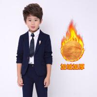 男童西装套装2017新款韩版加绒1-3岁7儿童宝宝西服男礼服英伦小童