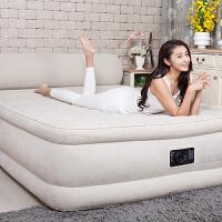 充气床 家用双人加大加厚双层折叠靠背气垫床 充气床垫 152cm宽229cm长79cm高(内置电泵送防潮