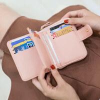 户外钱包女短款学生韩版可爱小清新折叠多功能钱夹零钱位
