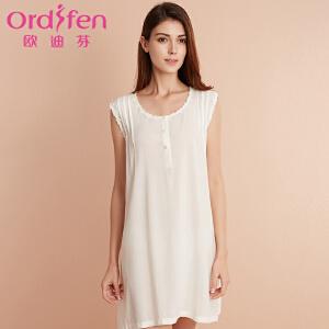 【2件3折到手价约:137】欧迪芬女士睡裙短袖睡裙女士睡衣时尚家居服XH7602