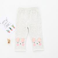 童裤女童打底裤夏季儿童卡通狗狗七分裤0一1-2-3岁婴儿宝宝裤子女