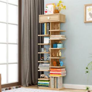 书架 现代简约鞋架客厅落地置物收纳架创意收纳格子简易书房多层储物整理架子家具用品