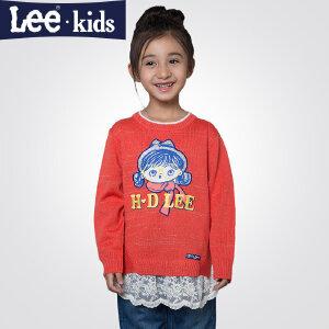 LEE童装秋款女童毛衣针织衫 儿童中大童套头衫上衣外套2RW50952
