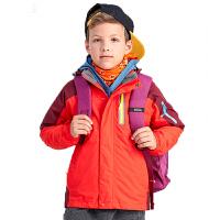 儿童款全压胶热封三合一可脱卸两件套冲锋衣加厚保暖