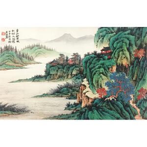 刘彦水《青山》著名画家