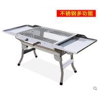 轻盈手提烤架便携不锈钢烧烤架烧烤箱套餐烧烤炉加厚户外家用木炭折叠烤箱
