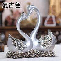 客厅卧室新房装饰摆设摆件婚庆礼品创意结婚礼物情侣天鹅工艺品