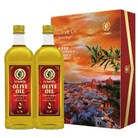 西班牙进口 莉莎贝拉 特级初榨橄榄油 1000ml*2 精装礼盒