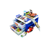 风火轮小跑车托马斯火车头收纳盒玩具停车场多层车库多美卡防尘箱