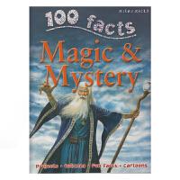 100 Facts Magic & Mystery 100个事实魔法和神秘 儿童英语百科科普知识大全百科全书 英文原版