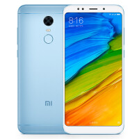 小米 红米手机5 plus 4G+64GB 标配全网通版 浅蓝色 移动联通电信4G手机 双卡双待
