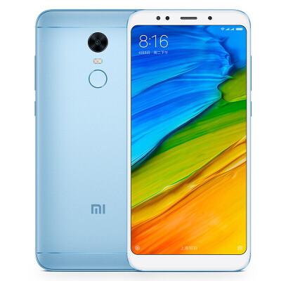 小米 红米手机5 plus 4G+64GB 标配全网通版 浅蓝色  移动联通电信4G手机 双卡双待千元全面屏 /前置柔光自拍 / 骁龙处理器