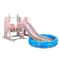 儿童滑滑梯秋千组合小型室内家用游乐园幼儿园宝宝小孩玩具 +球池套餐