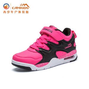 CAMKIDS男童鞋学生儿童篮球鞋中大童2018春季休闲鞋运动鞋