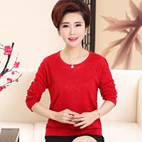 新款中老年女装春装毛衣40-50岁妈妈装冬装针织衫宽松短款打底衫