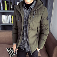 棉衣冬季外套2019年新款韩版潮流加厚棉袄男装衣服修身羽绒棉服。