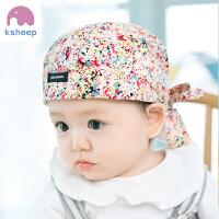 婴儿帽子0-12个月男女宝宝儿童海盗帽夏头巾