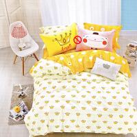 纯棉儿童床单被套三件套学生宿舍单人床1.2m1.5米幼儿园床上用品