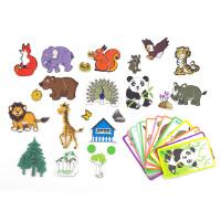 B+BG ENSWEET 茵素生活 儿童拼图 磁性百变拼板益智森林王国拼图