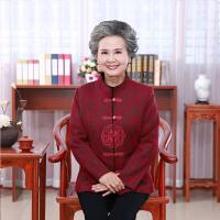 老年人秋装女装60-70-80岁外套薄款老人衣服长袖太太奶奶唐装上衣