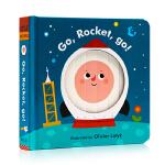英文原版绘本 Go Rocket Go 去,火箭,去!纸板书机关操作书 精装立体变脸书 儿童启蒙绘本 百叶窗书