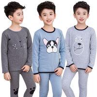 童装儿童保暖内衣套装加绒加厚男童女童中大童小