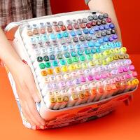 马克笔套装touch正品双头48色学生80色168/480/1000色网红白杆全套美术生专用彩色动漫初学者小学生水彩笔