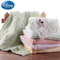 迪士尼Disney6重纱方巾 纯棉纱布毛巾 宝宝婴儿童 柔软吸水 A类