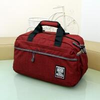 大容量手提旅行包女棉麻旅游包男商务短途旅行袋行李包运动健身包