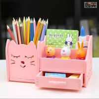笔筒创意时尚可爱少女心学生收纳盒简约韩国小清新多功能桌面摆件