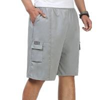 中年男士短裤爸爸装棉质宽松中老年男式中裤休闲五分裤沙滩裤