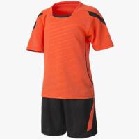 儿童足球服夏季运动服套装男女童装光板球衣足球服套装光板定制