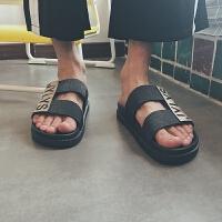 港风夏季新款韩版男士拖鞋一字拖居家户外沙滩鞋凉拖鞋浴室防滑拖