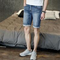 [1折价36.8元]唐狮男牛仔短裤牛仔中裤子青年男装夏季五分裤男水洗牛仔短裤马裤