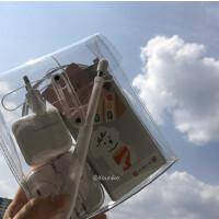 韩国ins透明绕线式ipad收纳袋数据线充电器收纳包多功能文具化妆