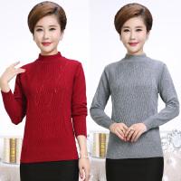 中老年女装秋冬装半高领针织打底衫中年人妈妈装毛衣长袖40-50岁