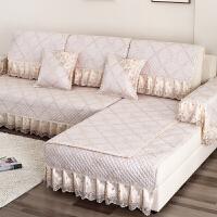 欧式亚麻布艺沙发垫四季通用全包沙发套罩巾防滑座垫