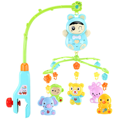 【支持礼品卡】新生儿床铃 宝宝0-6-12个月音乐旋转儿童床头摇铃男女孩婴儿玩具u6x 加粗支架 可拆卸音乐盒  可旋转带灯光