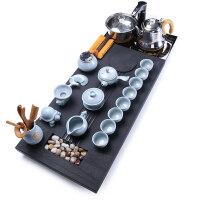 唐丰乌金石茶盘茶具套装家用全自动功夫茶杯大号茶海黑金石茶台
