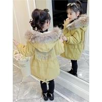 儿童2018新款韩版女孩中大童冬季绒款棉袄外套