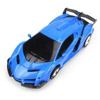 遥控变形车1023儿童玩具赛车模型一键变形充电四通跨境 兰博基尼 蓝色