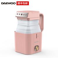 大宇(DAEWOO)HI-026手持挂烫机蒸汽家用小型迷你便携旅行宿舍学生熨烫机 熨烫衣服神器小方盒 粉色