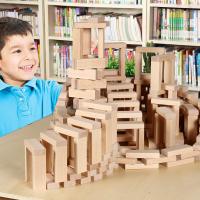 男孩儿童积木玩具木制大颗粒幼儿园建构区力木头积木3-6周岁男孩兼容乐高积木玩具婴儿玩具