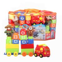 熊371出�]�e木光�^�� 熊大熊二塑料拼�b�e木�和�玩具 371�e木套�b71PCS