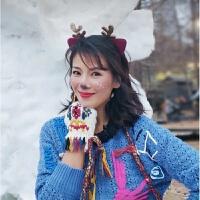 亲爱的客栈刘涛杨紫同款发卡金色鹿角发箍圣诞小鹿发饰麋鹿头饰女 金色鹿角