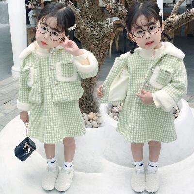 女童装冬装时髦洋气女宝宝套装裙