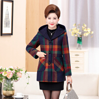 中老年女妈妈秋冬装毛呢外套呢子40-50岁中年女外套冬季棉衣新款